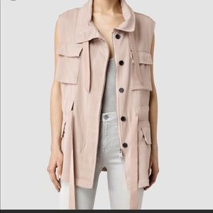 All saints Ayia sleeveless Jacket
